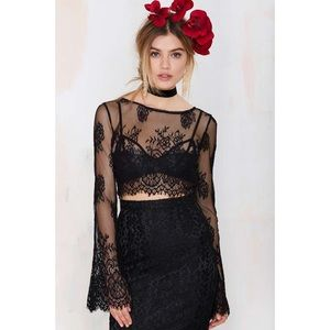 Nasty Gal Endora Lace Crop Top